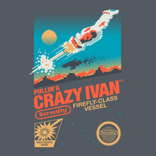 Crazy Ivan Firefly Nintendo Game T-Shirt