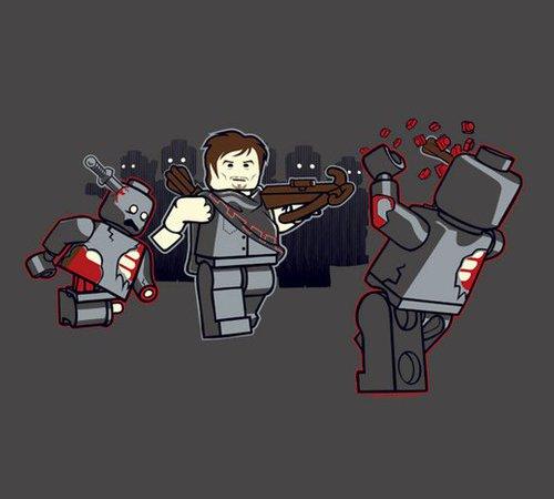 Lego Daryl Dixon Walking Dead T-Shirt