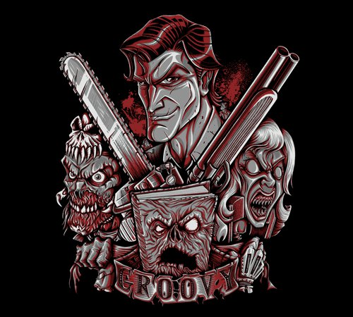 Groovy Ash Army of Darkness T-Shirt