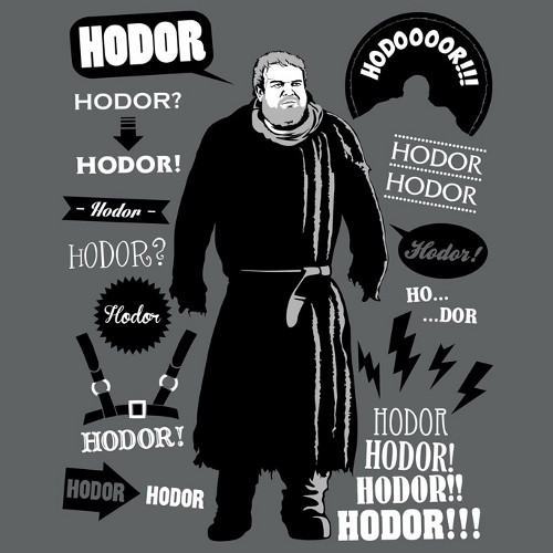 Hodor Quotes Game of Thrones T-Shirt