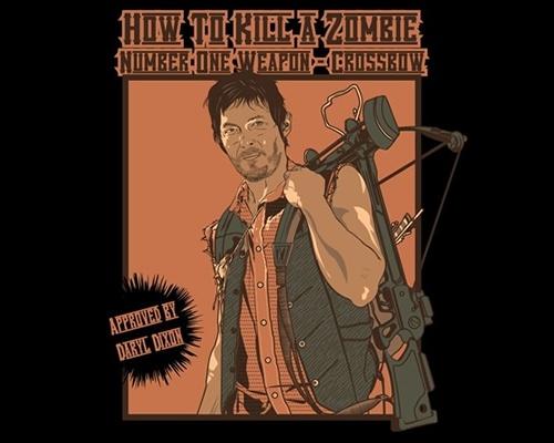 Daryl Dixon Zombie Crossbow Walking Dead T-Shirt