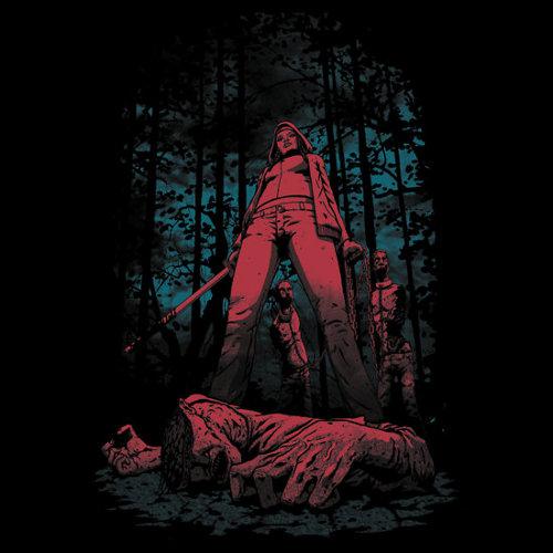 Huntress Michonne Walking Dead T-Shirt