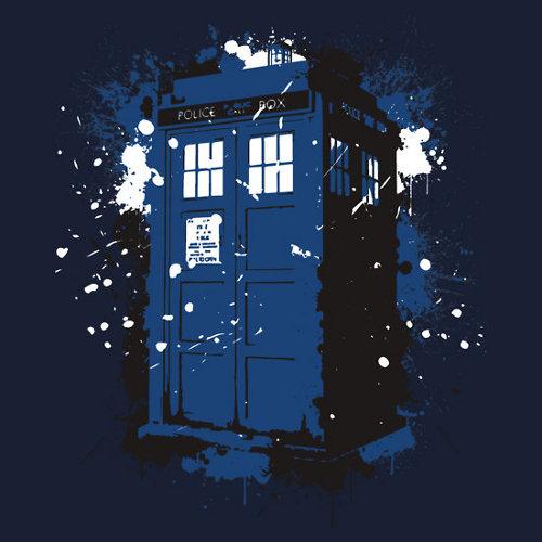 Tardis Ink Paint Graffiti Doctor Who T-Shirt