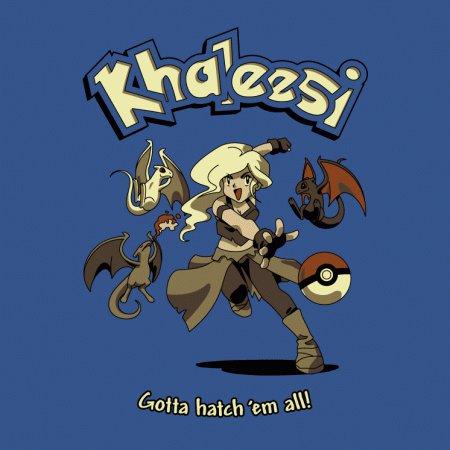 Khaleesi Game of Thrones Pokemon T-Shirt