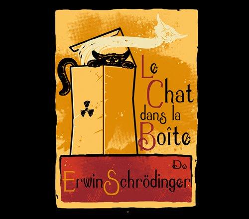Schrödinger's Cat Le Chat Noir T-Shirt
