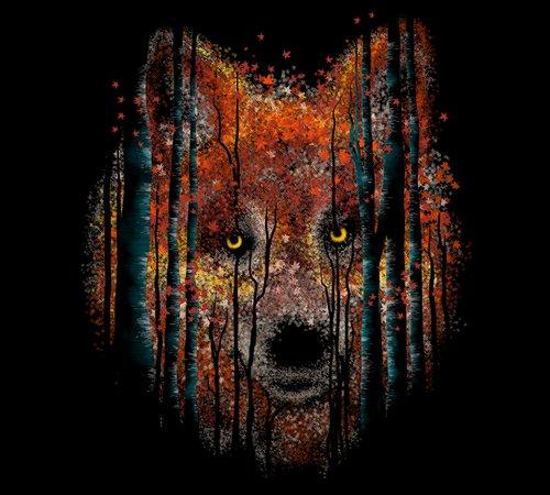 Autumn Fall Wolf Leaves T-Shirt