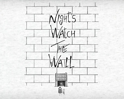 Night Watch Pink Floyd The Wall Game of Thrones T-Shirt