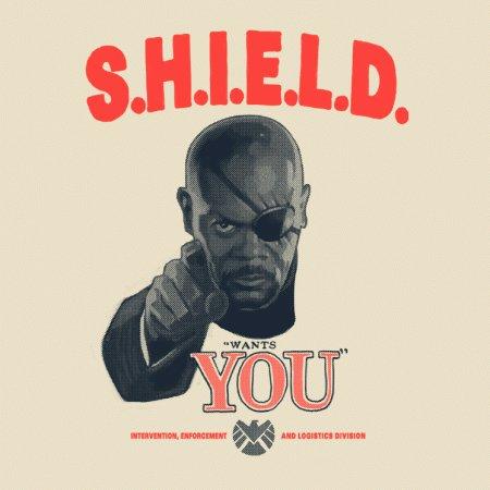 SHIELD Wants You Nick Fury T-Shirt