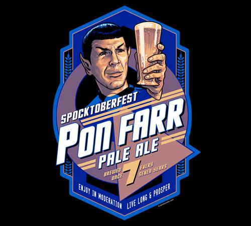 Spocktoberfest Spock Beer Star Trek T-Shirt