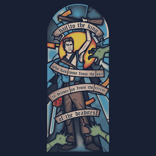 Army of Darkness Ash Stained Glass T-Shirt