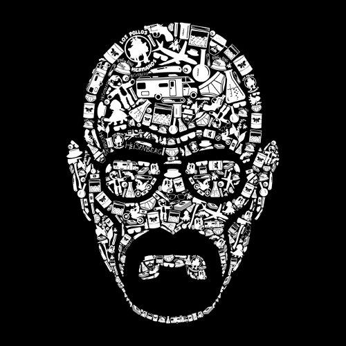 Making Heisenberg Portrait Breaking Bad T-Shirt