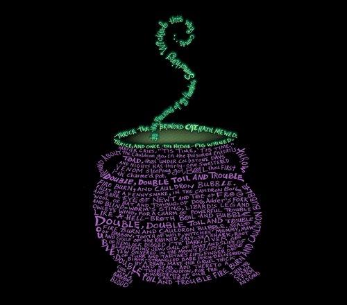 Witch Cauldron Toil Trouble Macbeth Poem T-Shirt