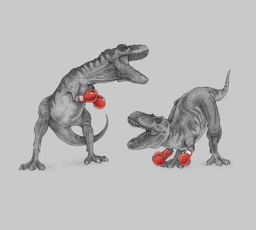 T-Rex Boxing Gloves T-Shirt