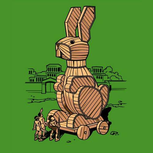 Trojan Bunny Rabbit Horse T-Shirt
