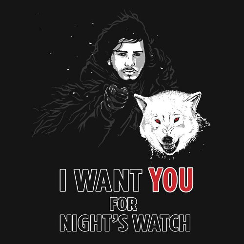 I Want You Night's Watch Game of Thrones T-Shirt