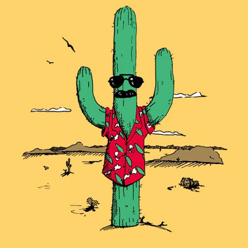 Undercover Cactus Tom Selleck T-Shirt
