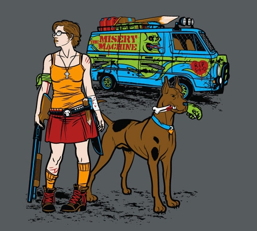 Scooby Doo Zombies Misery Machine T-Shirt