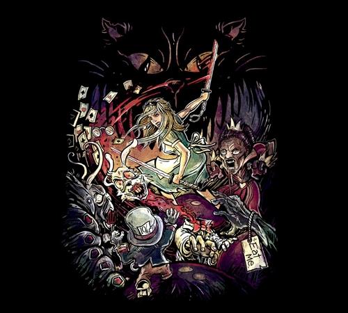 Alice in Wonderland Zombies T-Shirt