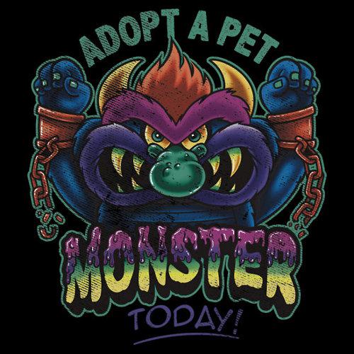 Adopt My Pet Monster T-Shirt