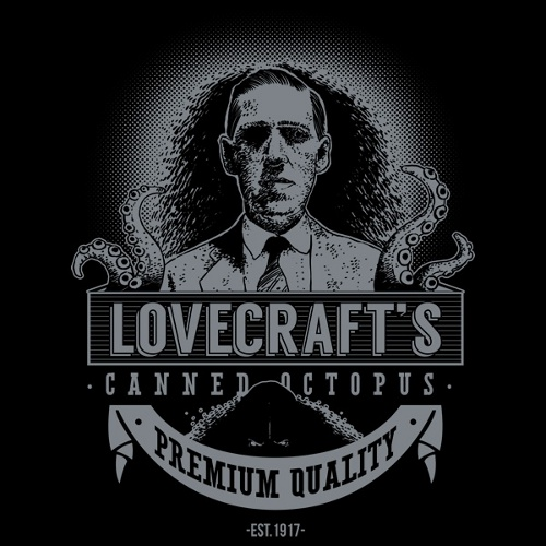 HP Lovecraft Canned Octopus Cthulhu T-Shirt