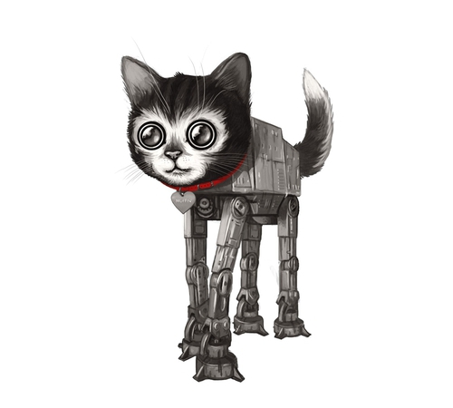 Cat AT-AT Walker Star Wars T-Shirt