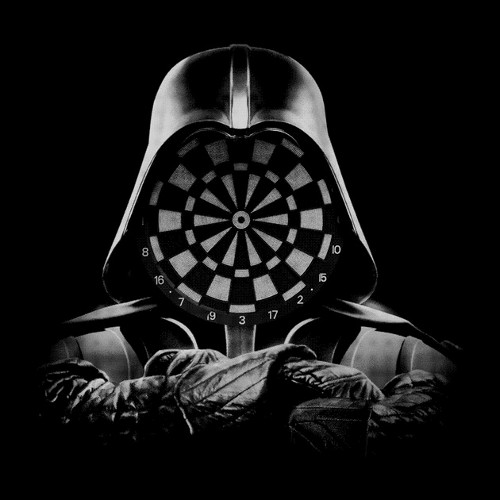 Darth Vader Dartboard Face Star Wars T-Shirt