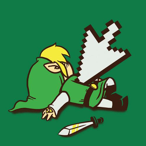 Dead Link Legend of Zelda Pointer T-Shirt
