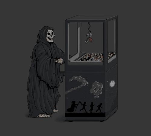 Death Human Claw Game Machine T-Shirt