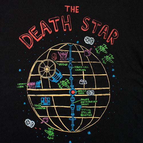 Death Star Color Diagram Star Wars T-Shirt
