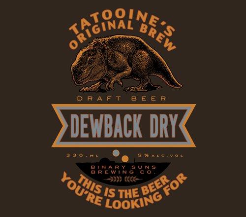 Dewback Dry Star Wars Beer T-Shirt