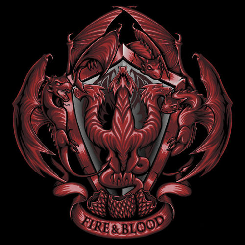 Fire Blood House Targaryen Crest Game of Thrones T-Shirt