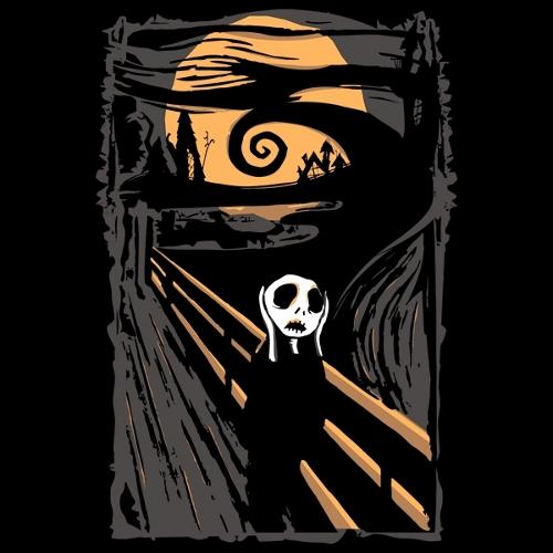Nightmare Before Christmas Scream Edvard Munch T-Shirt