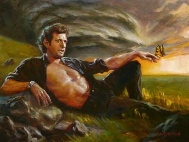 Jeff Goldblum Butterfly Painting