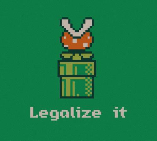Legalize It Piranha Plant Pipe Super Mario Bros T-Shirt