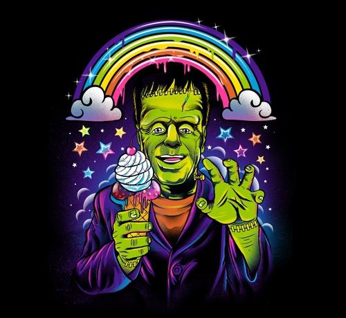 Lisa Frank Frankenstein Ice Cream Rainbow T-Shirt