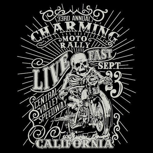 Charming Moto Rally Sons of Anarchy T-Shirt