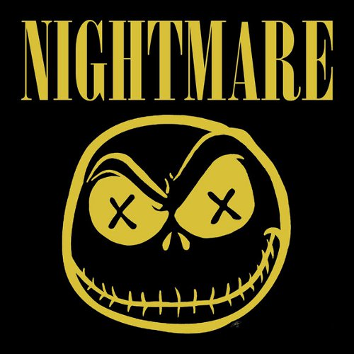 Nightmare Before Christmas Nirvana Smiley T-Shirt