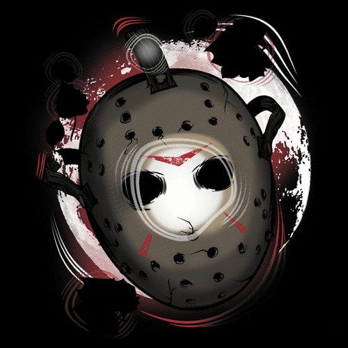 Crystal Lake Jason Mask Friday the 13th T-Shirt