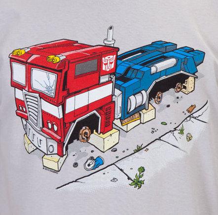 Rims Optimus Prime Transformers T-Shirt
