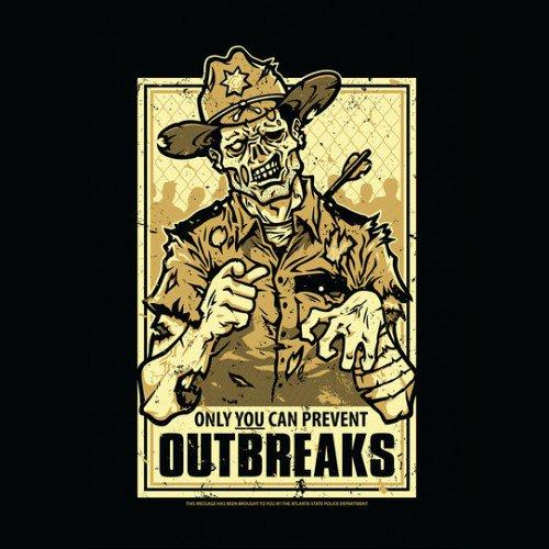 Zombie Outbreak Prevention Walking Dead T-Shirt