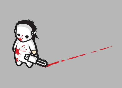 Sad Psycho Chainsaw Killer T-Shirt