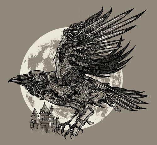 Send a Raven Game of Thrones T-Shirt