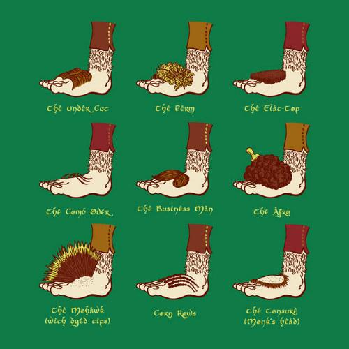 Hobbit Foot Hairstyles T-Shirt