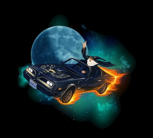 Trans Am Wizard Moon T-Shirt