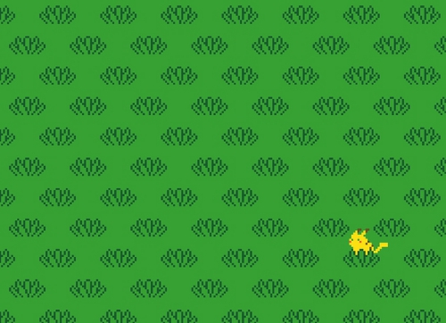 Pikachu Tall Grass Pattern Pokemon T-Shirt