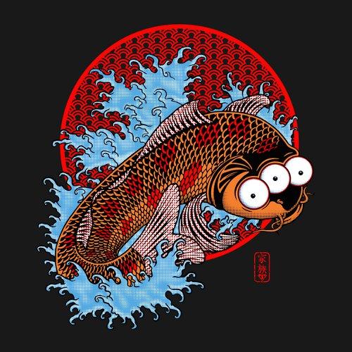 Blinky Three-Eyed Japanese Koi Fish Simpsons T-Shirt