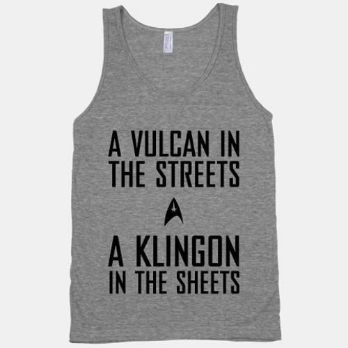 Vulcan Streets Klingon Sheets Star Trek T-Shirt