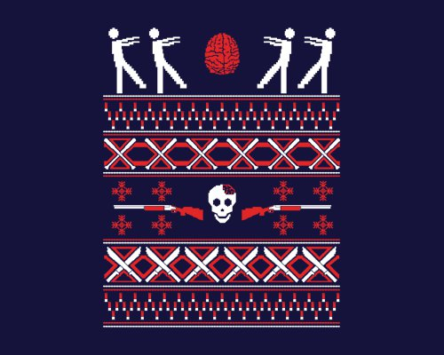 Zombie Christmas Sweater T-Shirt