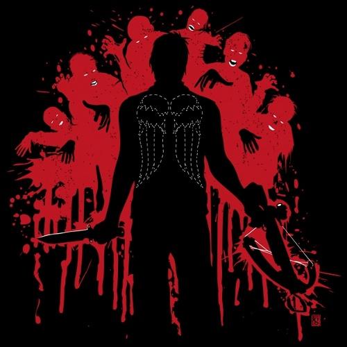 Daryl Dixon Angel Wings Walking Dead T-Shirt