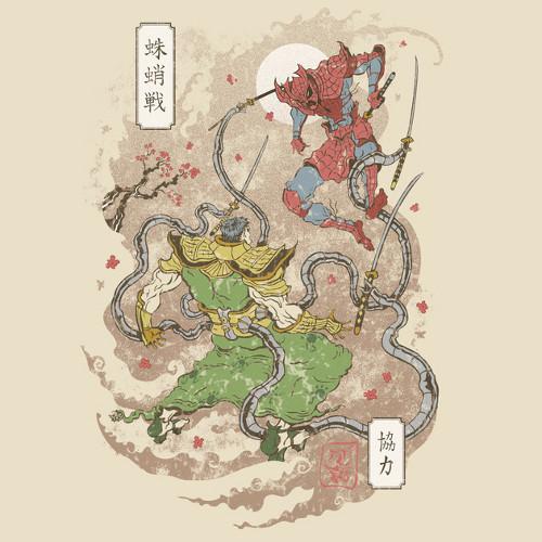 Spider-Man Japan Samurai Dr Octopus T-Shirt